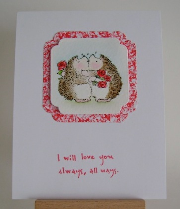 entwined hedgie couple with love you always sentiment