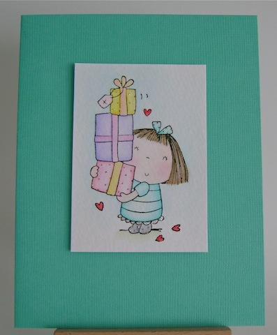 girl image with stack of presents and hearts