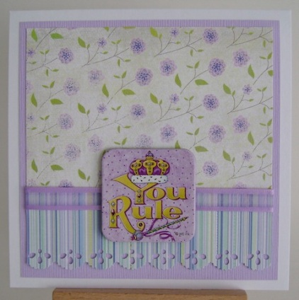 purple striped and floral paper with you rule sentiment