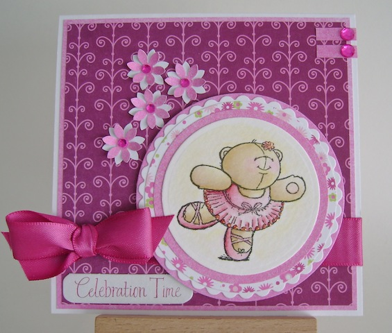 ballerina teddy bear in pink