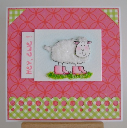 ewe covered in flower soft for texture with hey, ewe sentiment