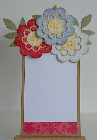 inside of flower pot card