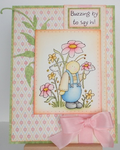 Card with Inky Antics Bumbly Bee