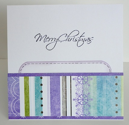 christmas card with gift card holder on the inside and merry christmas sentiment