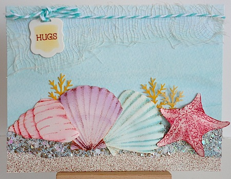 card with an under the sea theme