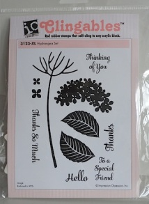 impression obsession hydrangea cling rubber stamp set