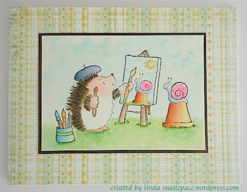 penny black painting hedgehog
