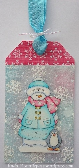 cuddly buddly snow family tag