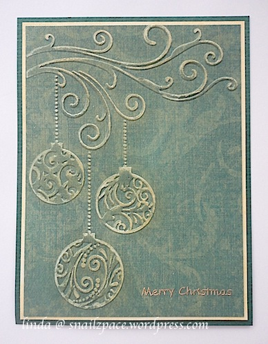 dry embossed ornaments
