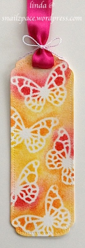 memory box butterfly bookmark