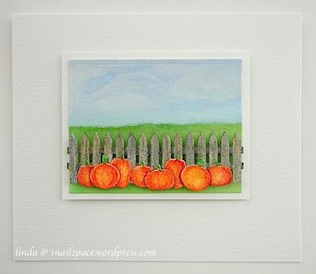 linda @ snailzpace.wordpress.com field of pumpkins