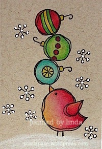 copyright linda @ snailzpace.wordpress.com magenta bird