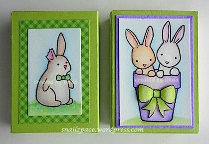 copyright linda@snailzpace.wordpress.com memory box bunnies