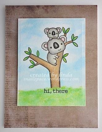 copyright linda@snailzpace.wordpress.com reverse confetti koala