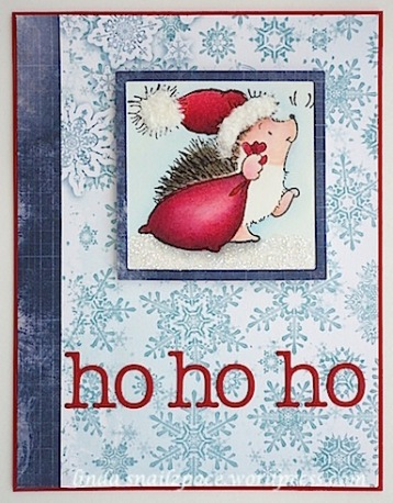 copyright linda@snailzpace.wordpress.com penny black santa hedgie-1