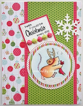 copyright linda @ snailzpace.wordpress.com penny black christmas mouse with stocking-1