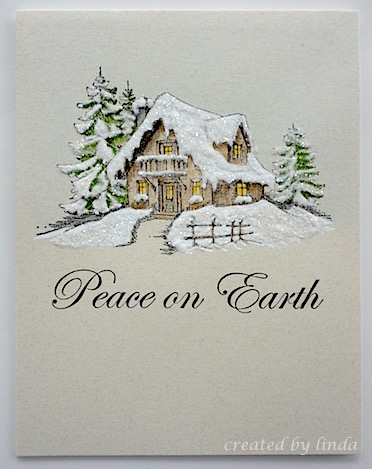 one layer christmas card.copyright linda @ snailzpace.wordpress.com