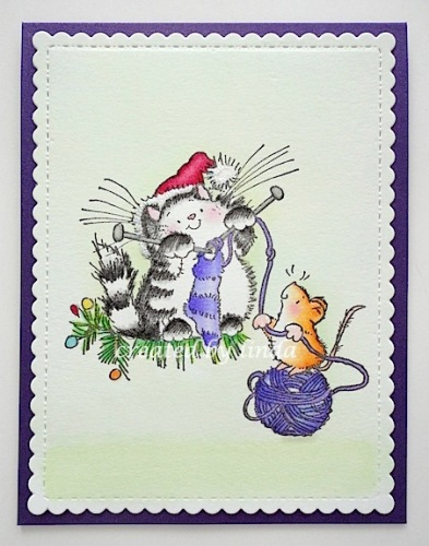 penny black christmas cat. copyright linda @ snailzpace.wordpress.com1