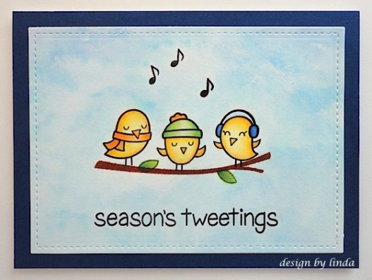 lawn fawn christmas birds copyright linda snailzpace.com