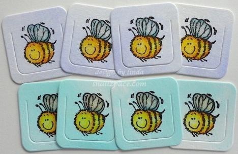 penny black bee bookmarks copyright linda snailzpace.com