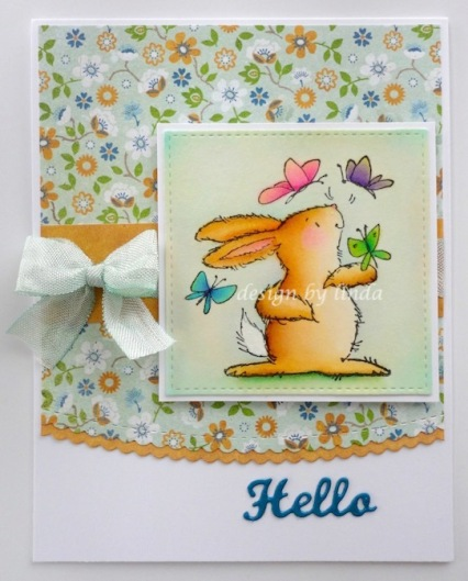 penny black bunny and butterflies copyright linda snailzpace.com-1