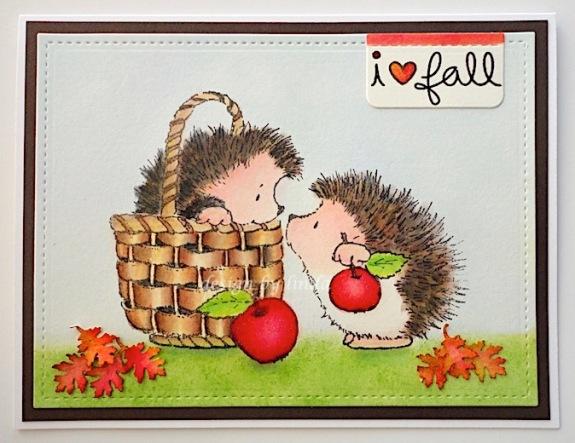 penny black apple hedgies copyright linda snailzpace.com-1