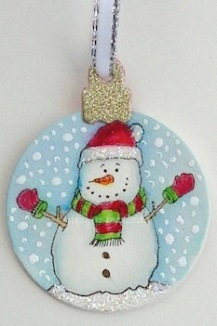 penny black snow man ornament copyright linda snailzpace.com-1