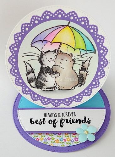 Penny Black kitties umbrella copyright linda snailzpace.com-1
