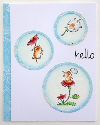 Penny Black mice dandelions copyright linda snailzpace.com-1