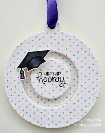 graduation spinning cap tag