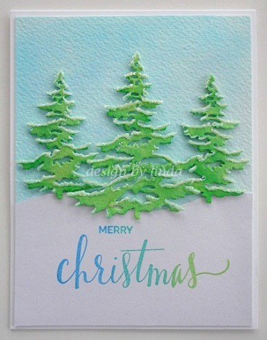 christmas tree trio card