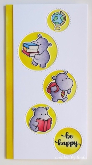hippos going back to school card copyright linda snailzpace.com