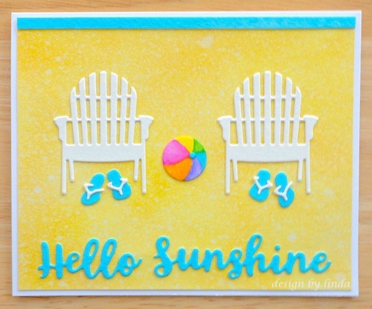 summery card in yellow and blue copyright linda snailzpace.com