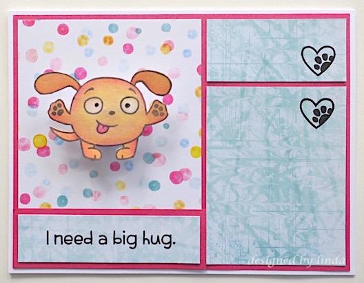 puppy hug card copyright linda snailzpace.com