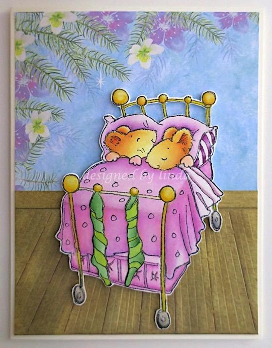 penny black mice dreaming of christmas copyright linda snailzpace.com