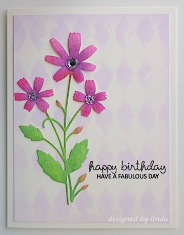 pink floral birthday card copyright linda snailzpace.com