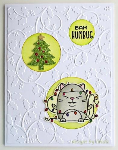 bah humbug christmas card copyright linda snailzpace.com