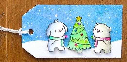 critter christmas tag