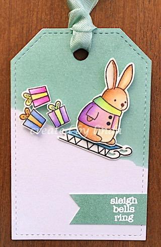 bunny sleigh tag
