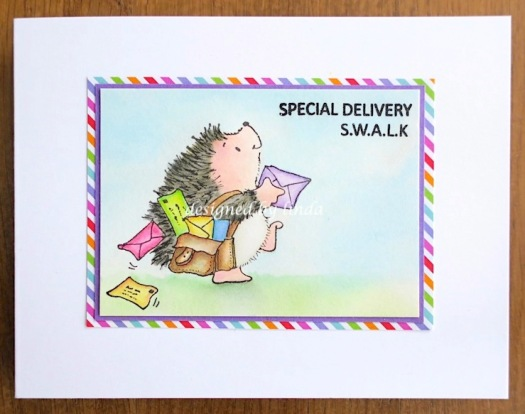 mail delivery hedgie card copyright linda snailzpace.com