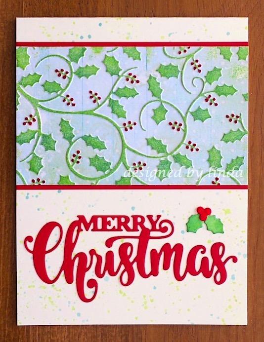 holly christmas card copyright linda snailzpace.com