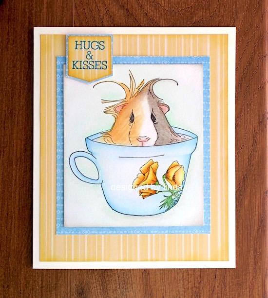 guina pig in teacup copyright linda snailzpace.com