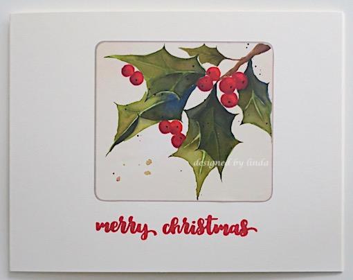 sticker christmas cards