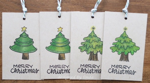 christmas greenery tags copyright linda snailzpace.com