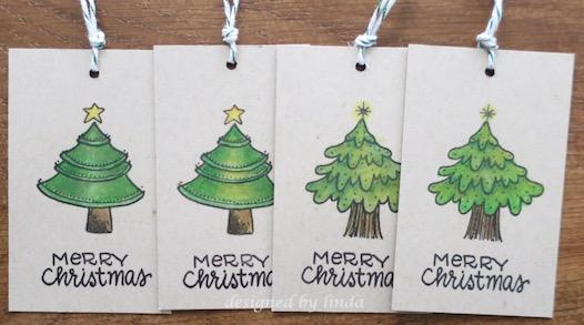 christmas greenery tags copyright linda snailzpace.com