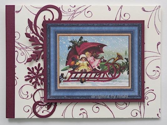 vintage christmas card copyright linda snailzpace.com