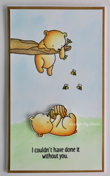 bears, honey and bees card