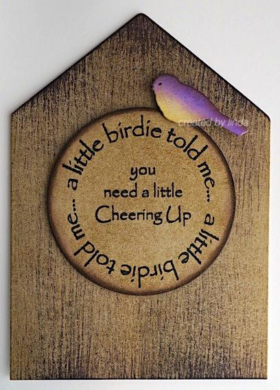 birdhouse shaped card copyright Linda snilazpace.com