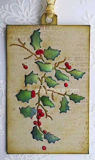 holly tag on Kraft copyright linda snailzpace.com