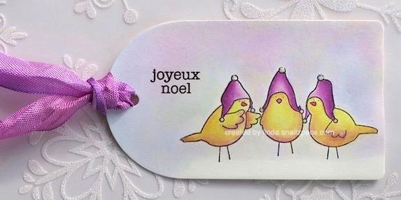 three French hens tag copyright linda snailzpace.com